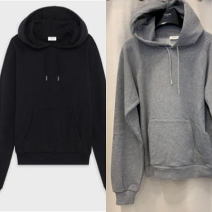 CELINE Plain Cotton Logo Luxury Hoodies