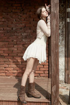 PAIN OR PLEASURE Cropped Short Casual Style Wool Nylon Street Style Long Sleeves 8