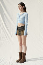 PAIN OR PLEASURE Cropped Short Casual Style Wool Nylon Street Style Long Sleeves 15