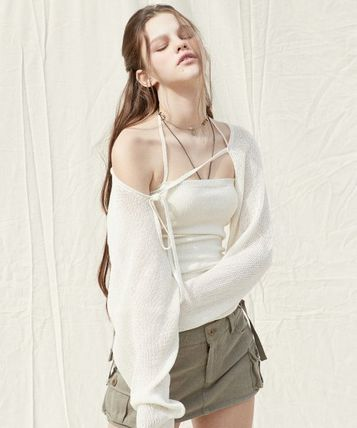 Co-ord Short Casual Style Linen Sleeveless Long Sleeves