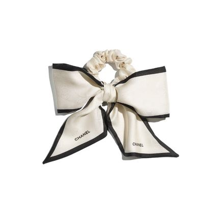 CHANEL Scrunchy Casual Style Party Style Office Style Elegant Style