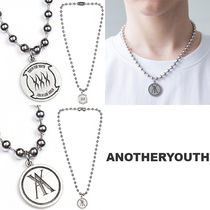 ANOTHERYOUTH Unisex Street Style Logo Necklaces & Chokers