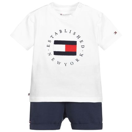 Tommy Hilfiger Unisex Organic Cotton Co-ord Baby Girl Tops