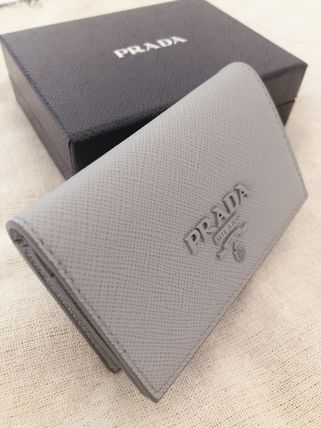 Small Wallet Logo Plain Leather Accessories