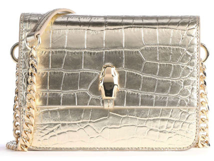 Casual Style Calfskin Crocodile Blended Fabrics 2WAY Chain