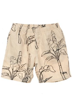 STUSSY Printed Pants Tropical Patterns Unisex Linen Street Style