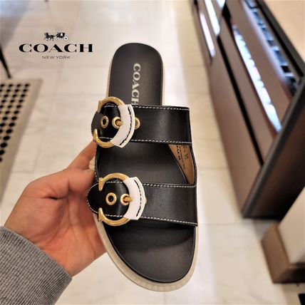 Coach Casual Style Logo Sandals