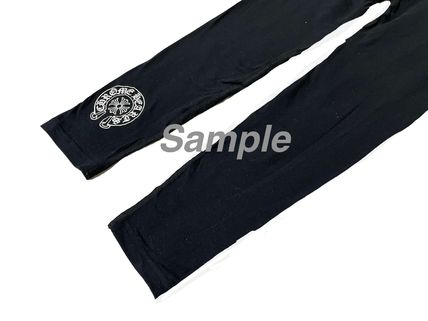 CHROME HEARTS CH PLUS Street Style Plain Logo Leggings Pants
