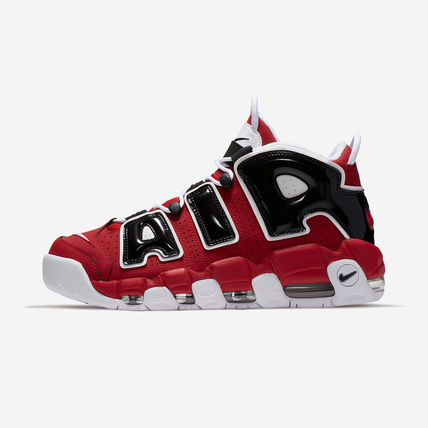 Nike AIR MORE UPTEMPO Unisex Faux Fur Blended Fabrics Street Style Plain Leather