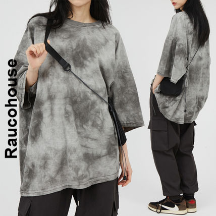 Raucohouse More T-Shirts Unisex Street Style Collaboration Cotton Short Sleeves