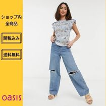 Oasis Shirts & Blouses Flower Patterns Casual Style Medium Short Sleeves Lace 4