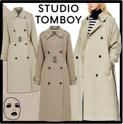 STUDIO TOMBOY Logo Casual Style Street Style Trench Coats