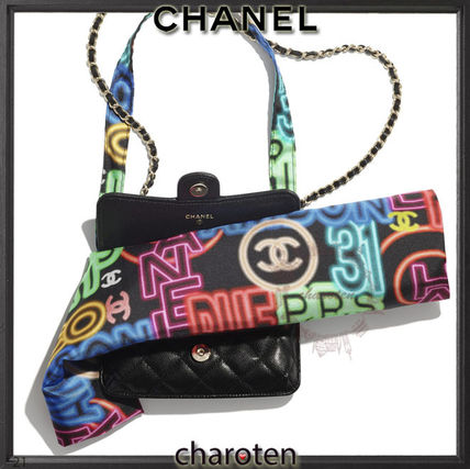 CHANEL ICON Casual Style Calfskin Blended Fabrics A4 3WAY Leather