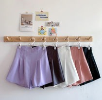 Casual Style Plain Party Style Office Style Bridal Shorts
