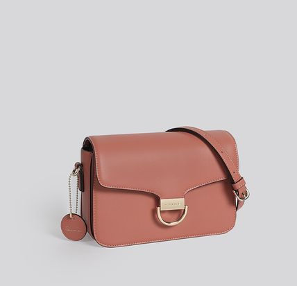 Crossbody Formal Style  Logo Casual Style Plain Leather