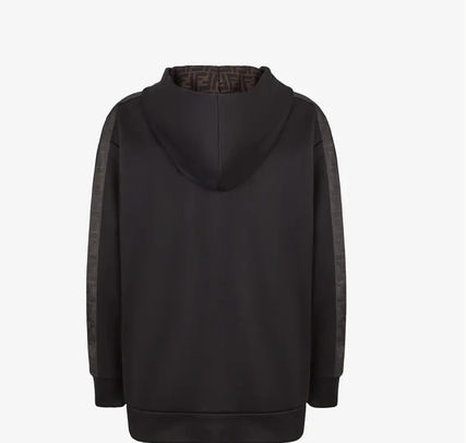 FENDI Sweat Long Sleeves Cotton Logo Hoodies & Sweatshirts