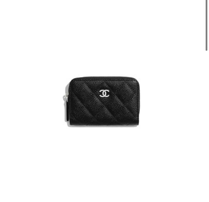 CHANEL Leather Long Wallet  Small Wallet Coin Cases