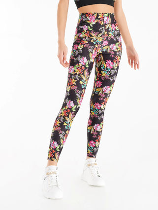 Rinascimento Loungewear Printed Pants Flower Patterns Casual Style Long