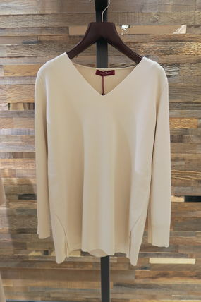 Max Mara Studio V-Neck Long Sleeves V-neck & Crew neck