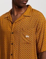 STUSSY Shirts Button-down Flower Patterns Street Style Short Sleeves 5
