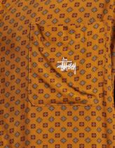 STUSSY Shirts Button-down Flower Patterns Street Style Short Sleeves 7