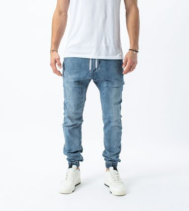 Ron Herman Logo Tapered Pants Plain Cotton Street Style Tapered Pants
