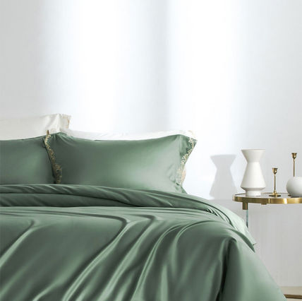 Plain Duvet Covers Pillowcases Fitted Sheets