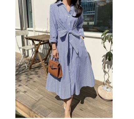 Formal Style  Bridal Stripes Casual Style A-line Flared