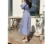 RONIEL Dresses Stripes Casual Style A-line Flared V-Neck Long Sleeves 5