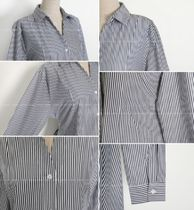 RONIEL Dresses Stripes Casual Style A-line Flared V-Neck Long Sleeves 14