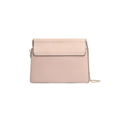 Chloe Faye Casual Style 3WAY Plain Leather Party Style Office Style