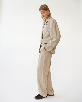 Casual Style Wool Plain Oversized Formal Style  Bridal