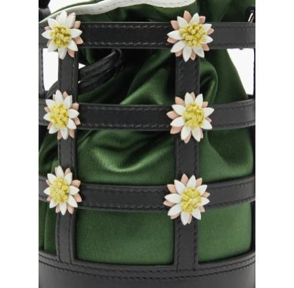 Crossbody Flower Patterns Casual Style 2WAY Leather
