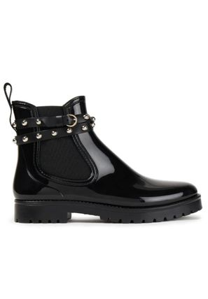 RED VALENTINO Rubber Sole Studded Plain Leather PVC Clothing