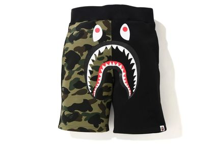 A BATHING APE Logo Tapered Pants Unisex Other Animal Patterns Cotton