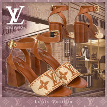 Louis Vuitton Flower Patterns Casual Style Blended Fabrics Leather