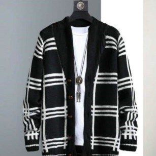Other Plaid Patterns Unisex Bi-color Cardigans