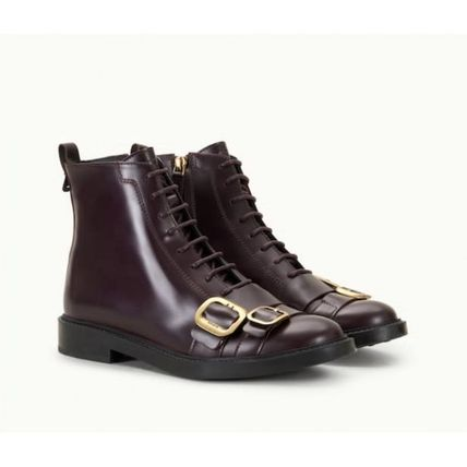 TOD'S Leather Flat Boots