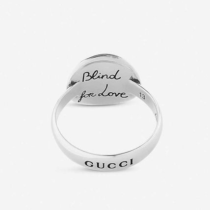 GUCCI GUCCI Blind for love sterling silver Mystic cat ring