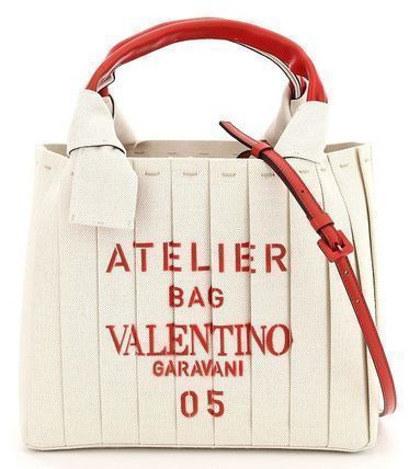VALENTINO SHOPPING Canvas Crossbody Logo Casual Style Bag in Bag 2WAY Plain