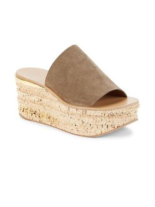 Chloe Camille Open Toe Platform Casual Style Suede Street Style Plain