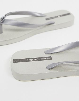 IPANEMA Flat Casual Style Street Style Plain Flip Flops With Jewels 3
