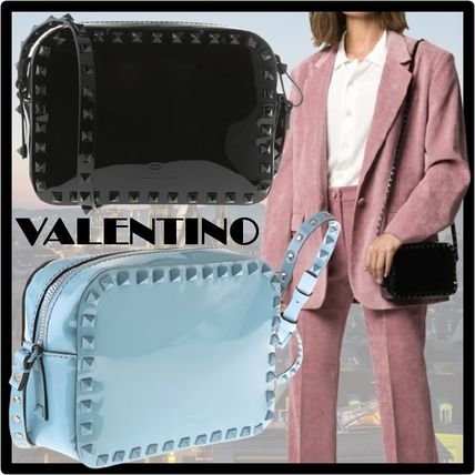 VALENTINO Logo Casual Style Shoulder Bags