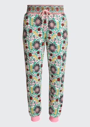 Alice+Olivia Printed Pants Flower Patterns Paisley Casual Style Unisex