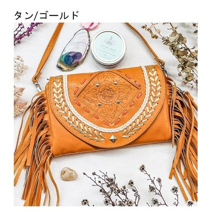 Crossbody Logo Casual Style Leather Party Style Clutches