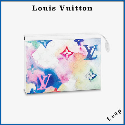 Louis Vuitton MONOGRAM Monogram Unisex Street Style Leather Logo Clutches