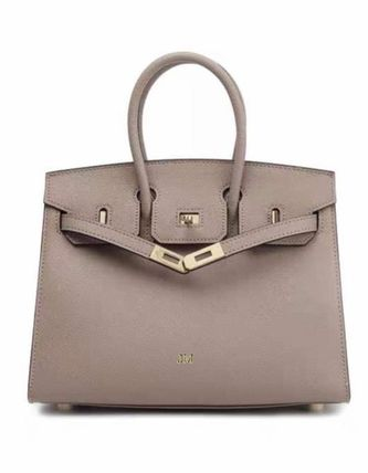 Casual Style Plain Leather Party Style Office Style Handbags