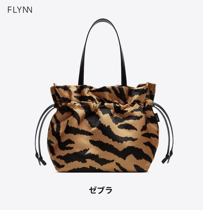 Casual Style Nylon 2WAY Plain Office Style Totes