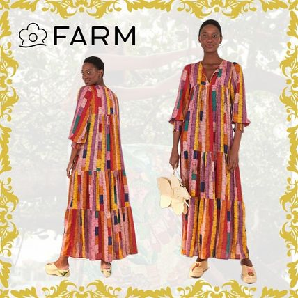 Formal Style  Stripes Tropical Patterns Casual Style Maxi