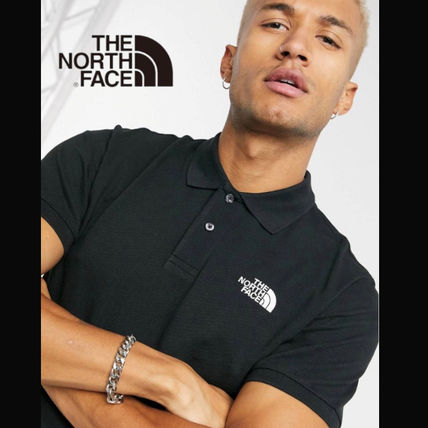 THE NORTH FACE Polos Street Style Cotton Short Sleeves Logo Outdoor Polos
